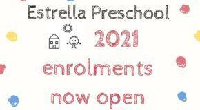 2021 Enrolments Now Open!